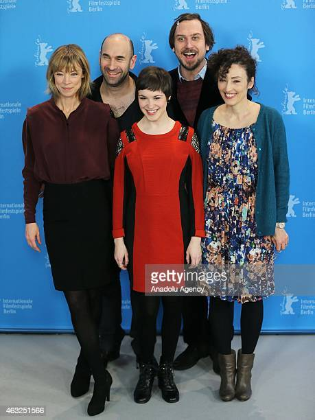 Jenny Schily Urs Jucker Victoria Schulz Lars Eidinger and Stina Werenfels attend the 'Dora or The Sexual Neuroses of Our Parents' photocall during...