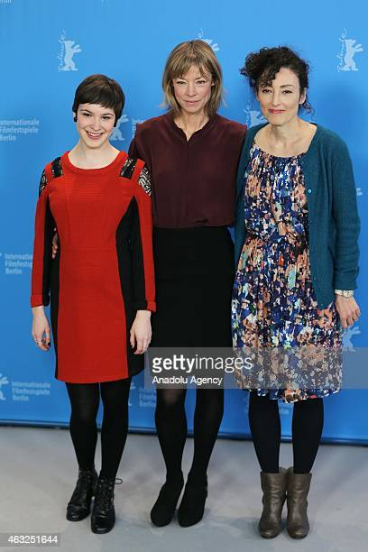 Jenny Schily Victoria Schulz and Stina Werenfels attend the 'Dora or The Sexual Neuroses of Our Parents' photocall during the 65th Berlinale...