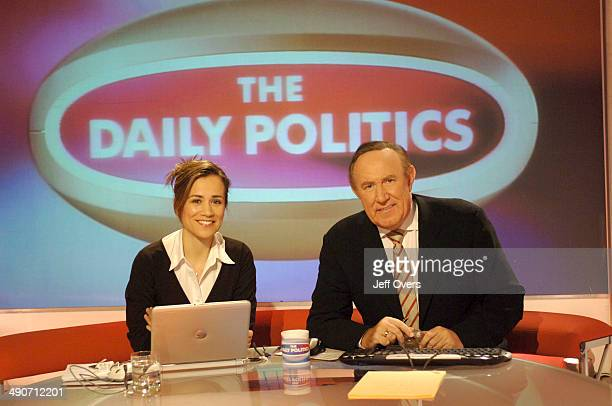 Jenny Scott and Andrew Neil on the set of the Daily Politics programme