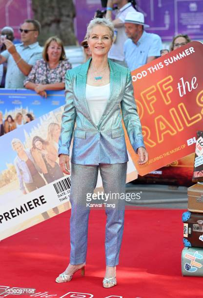 """Jenny Seagrove attends the """"Off The Rails"""" World Premiere at Odeon Luxe Leicester Square on July 22, 2021 in London, England."""