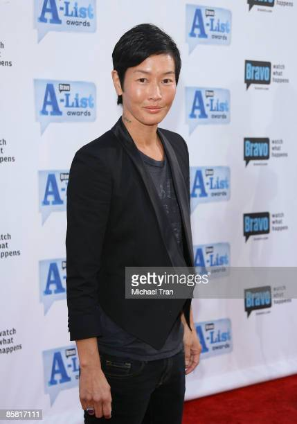 Jenny Shimizu arrives to Bravo's 2nd Annual AList Awards held at The Orpheum Theatre on April 5 2009 in Los Angeles California