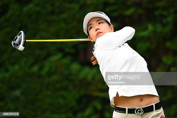 Jenny Shin of South Korea hits her tee shot on the 14th hole during the second round of the TOTO Japan Classics 2015 at the Kintetsu Kashikojima...