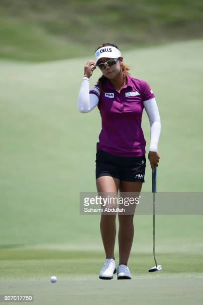 Jenny Shin of South Korea in action during round four of the HSBC Women's World Championship at Sentosa Golf Club on March 4 2018 in Singapore
