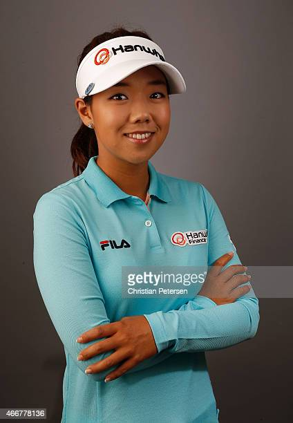 Jenny Shin of South Korea poses for a portrait ahead of the LPGA Founders Cup at Wildfire Golf Club on March 18 2015 in Phoenix Arizona