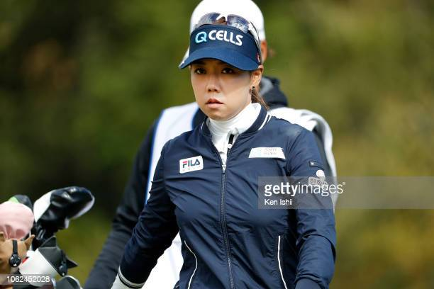 Jenny Shin of South Korea walks off on the 18th green during the first round of the TOTO Japan Classic at Seta Golf Course on November 02 2018 in...