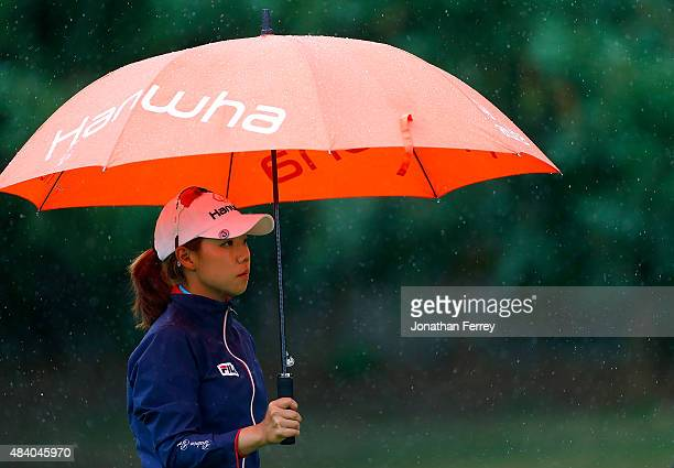 Jenny Shin of South Korea walks on the 9th hole during the second round of the LPGA Cambia Portland Classic at Columbia Edgewater Country Club on...