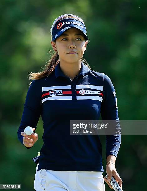 Jenny Shin walks off the 17th green during the final round of the Volunteers of America Texas Shootout at Las Colinas Country Club on May 1 2016 in...