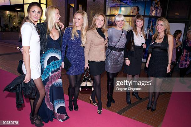 Jenny Skavlan Vibeke Klemmetsen Synnove Skarbo Guri Schanke Mariann Aas Hansen Eva Sannum and Nora Farah attend a Charity Gala on October 29 2009 in...