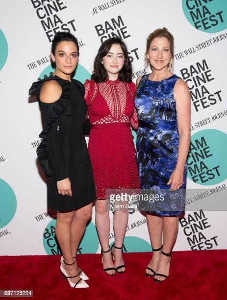 Jenny Slate Abby Quinn and Edie Falco attend the BAMcinemaFest 2017 screening of 'Landline' at BAM Harvey Theater on June 17 2017 in New York City