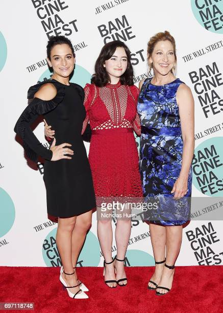 Jenny Slate Abby Quinn and Edie Falco attend the 'Landline' New York screening during the BAMcinemaFest 2017 at BAM Harvey Theater on June 17 2017 in...