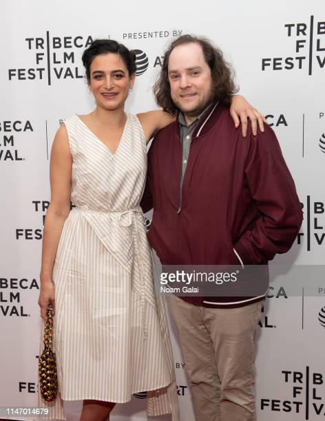 Jenny Slate and Aaron Katz attend the 'Earth Break A Few Suggestions For Survival With Additional Hints And Tips About How To Make Yourself More...