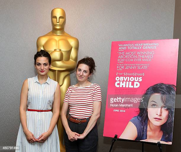 Jenny Slate and Gillian Robespierre attend The Academy Of Motion Picture Arts And Sciences Hosts An Official Academy Members Screening Of Obvious...