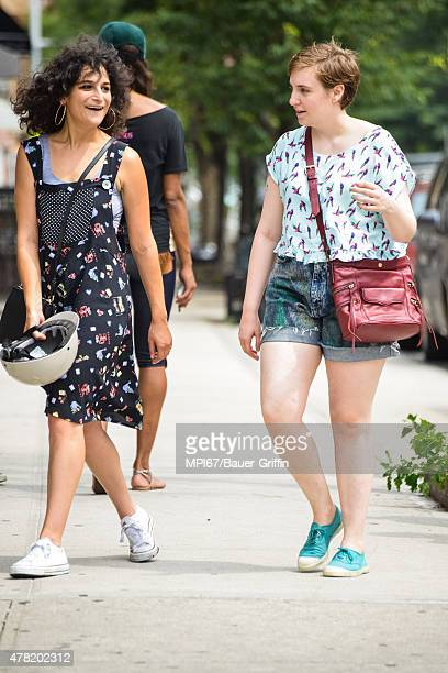 Jenny Slate and Lena Dunham on the set of HBO's 'Girls' on June 23 2015 in New York City