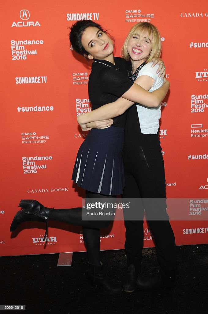 Jenny Slate and Zoe Kazan attends the 'Joshy' Premiere during the 2016 Sundance Film Festival at Library Center Theater on January 24, 2016 in Park City, Utah.