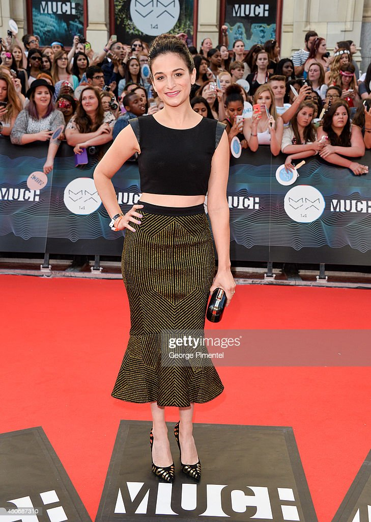 Jenny Slate arrives at the 2014 MuchMusic Video Awards at MuchMusic HQ on June 15, 2014 in Toronto, Canada.