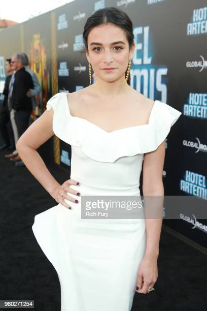 Jenny Slate attends Global Road Entertainment's Hotel Artemis premiere at Regency Village Theatre on May 19 2018 in Westwood California