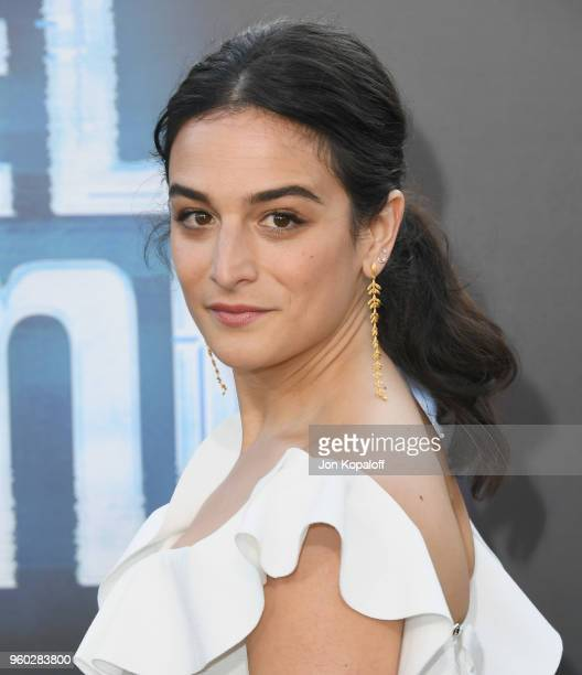 "Jenny Slate attends Global Road Entertainment's ""Hotel Artemis"" Premiere at Regency Village Theatre on May 19, 2018 in Westwood, California."