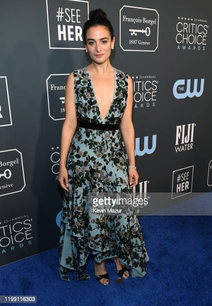 Jenny Slate attends the 25th Annual Critics' Choice Awards at Barker Hangar on January 12 2020 in Santa Monica California
