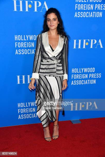 Jenny Slate attends the Hollywood Foreign Press Association's Grants Banquet at the Beverly Wilshire Four Seasons Hotel on August 2 2017 in Beverly...