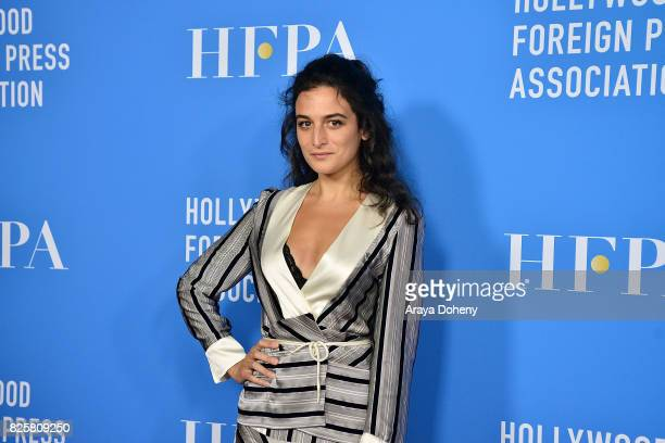 Jenny Slate attends the Hollywood Foreign Press Association's Grants Banquet at the Beverly Wilshire Four Seasons Hotel on August 2, 2017 in Beverly...