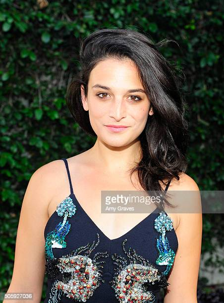 Jenny Slate attends the MATCHESFASHIONCOM and Mary Katrantzou Cocktail Party to Celebrate an Exclusive Collection of A to Z Totes on April 20 2015 in...