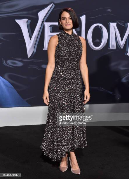 Jenny Slate attends the premiere of Columbia Pictures' 'Venom' at Regency Village Theatre on October 1 2018 in Westwood California