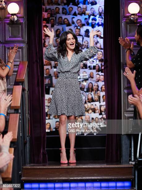 Jenny Slate greets the audience during 'The Late Late Show with James Corden' Monday July 24 2017 On The CBS Television Network