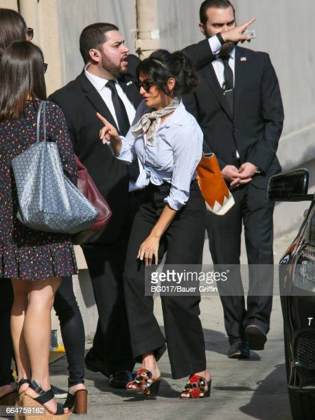 Jenny Slate is seen at 'Jimmy Kimmel Live' on April 04 2017 in Los Angeles California