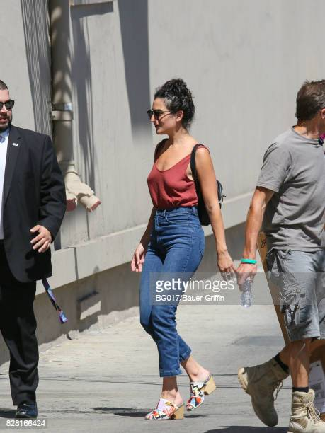 Jenny Slate is seen at 'Jimmy Kimmel Live' on August 08 2017 in Los Angeles California