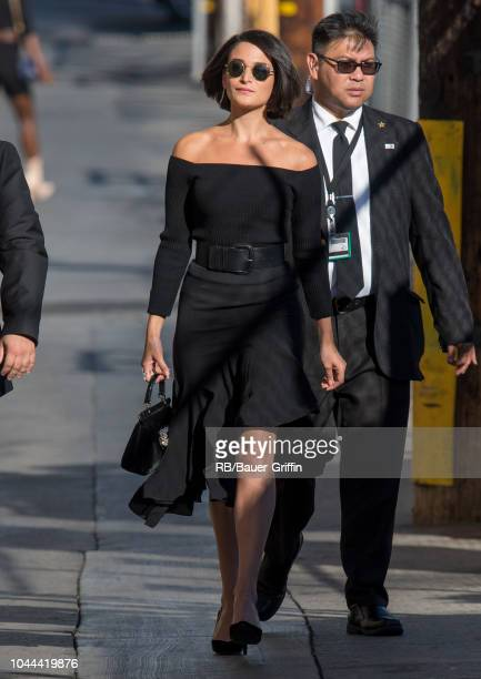 Jenny Slate is seen at 'Jimmy Kimmel Live' on October 01 2018 in Los Angeles California
