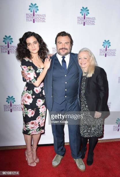 Jenny Slate Jack Black and Jacki Weaver attend a screening of 'The Polka King' at the 29th Annual Palm Springs International Film Festival on January...