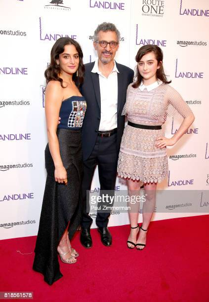 Jenny Slate John Turturro and Abby Quinn attend 'Landline' New York Premiere at The Metrograph on July 18 2017 in New York City