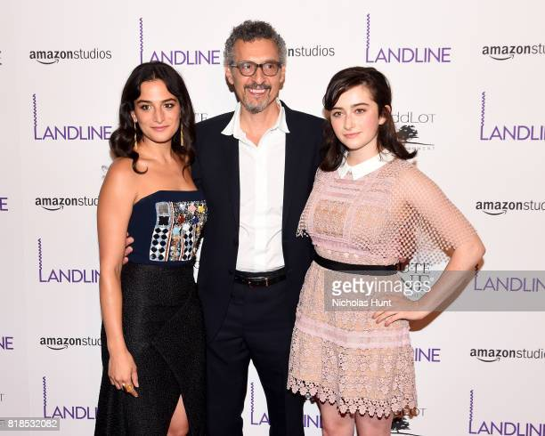 Jenny Slate John Turturro and Abby Quinn attend the 'Landline' New York Premiere at The Metrograph on July 18 2017 in New York City