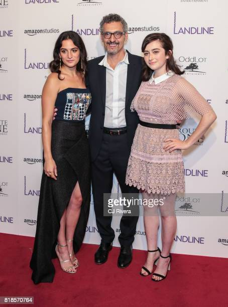 Jenny Slate John Turturro and Abby Quinn attends the New York premiere of 'Landline' at The Metrograph on July 18 2017 in New York City