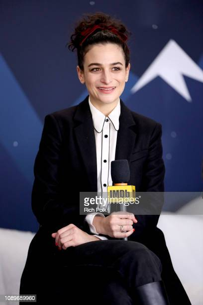 Jenny Slate of 'The Sunlit Night' attends The IMDb Studio at Acura Festival Village on location at The 2019 Sundance Film Festival - Day 2 on January...