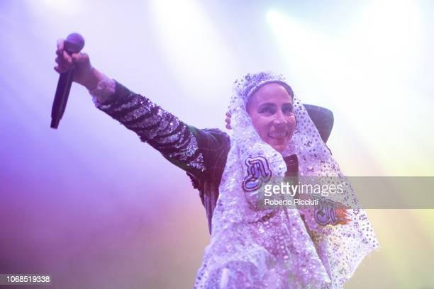 Jenny Wilson performs on stage at O2 Academy Glasgow on December 4, 2018 in Glasgow, Scotland.