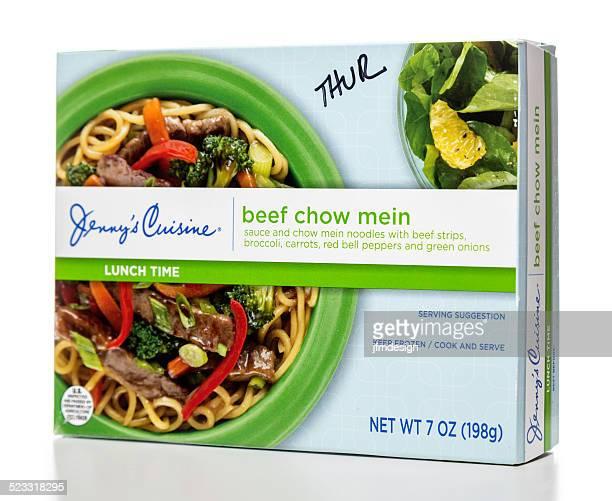 Jenny Comida de carne de vaca chow mein