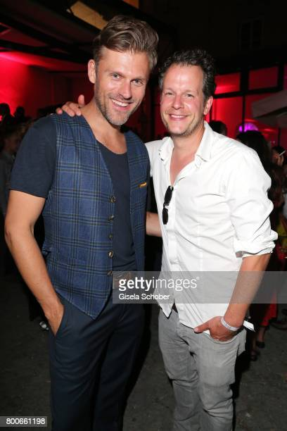 Jens Atzorn and Mirko Lang during the 'Audi Director's cut' Party during the Munich film festival at Praterinsel on June 24 2017 in Munich Germany