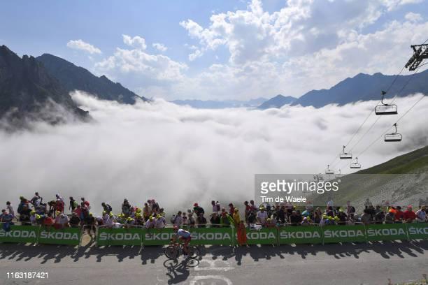 Jens Debusschere of Belgium and Team KatushaAlpecin / Col de Tourmalet / Mountains / Fans / Public / Landscape / during the 106th Tour de France 2019...