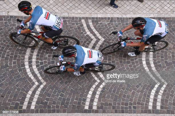 ITALIA CAMPO IMPERATORE ITALY MAY 13 Jens Debusschere of Belgium and Team Lotto Soudal / Victor Campenaerts of Belgium and Team Lotto Soudal /...