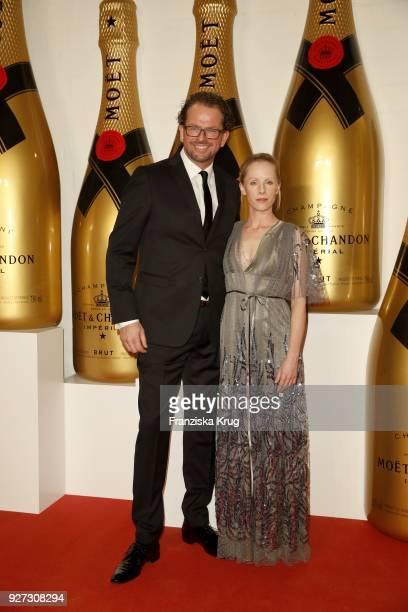 Jens Gardthausen and Susanne Wuest attend the Moet Academy Night on March 4 2018 in Berlin Germany
