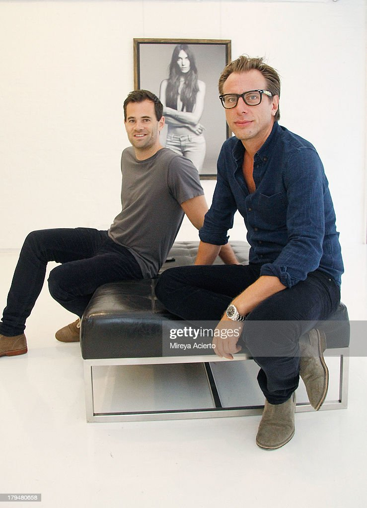 Jens Grede and Erik Torstensson attend the Frame Denim presentation during Mercedes-Benz Fashion Week Spring 2014 at Openhouse Gallery on September 4, 2013 in New York City.