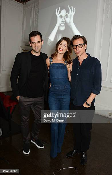 Jens Grede Hanneli Mustaparta and Erik Torstensson attend the FRAME Denim dinner hosted by Hanneli Mustaparta at Il Bottaccio on May 28 2014 in...