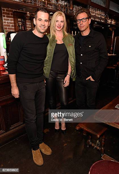 Jens Grede Lara Stone and Erik Torstensson attend Frame Pub Quiz on November 16 2016 in London England