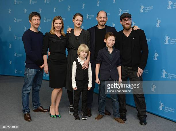 Jens Harant Nele MuellerStoefen Edward Berger Luise Heyer Ivo Pietzcker and Georg Arms attend the 'Jack' photocall during 64th Berlinale...