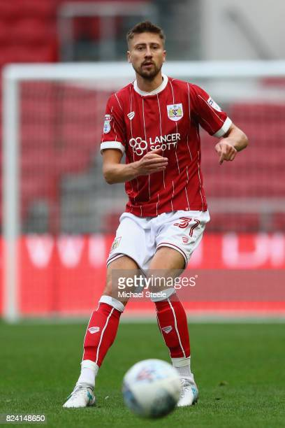 Jens Hegeler of Bristol City during the pre season match between Bristol City and FC Twente at Ashton Gate on July 28 2017 in Bristol England