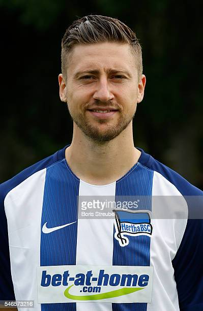 Jens Hegeler of Hertha BSC poses during the Hertha BSC Team Presentation on July 12 2016 in Berlin Germany