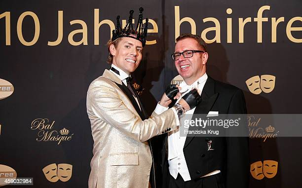 Jens Hilbert and his friend Ulrich Schuhmacher attend the Hairfree Celebrates 10 Year Anniversary with Bal Masque on November 15 2014 in Darmstadt...