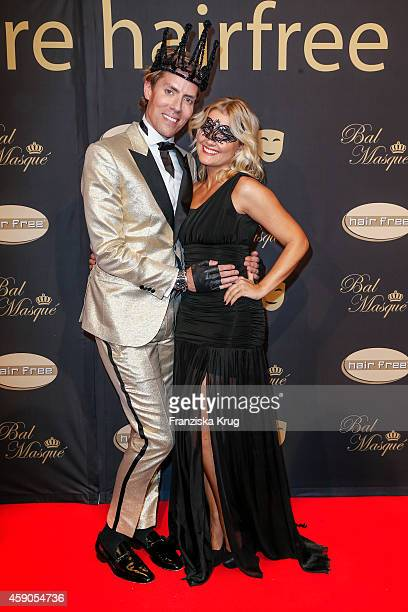 Jens Hilbert and Jennifer Knaeble attend the Hairfree Celebrates 10 Year Anniversary with Bal Masque on November 15 2014 in Darmstadt Germany