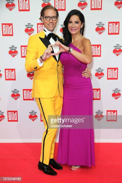 Jens Hilbert and Mariella Ahrens during the Ein Herz Fuer Kinder Gala at Studio Berlin Adlershof on December 8 2018 in Berlin Germany